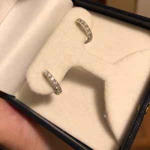 Simon G white gold diamond earrings